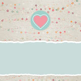 Valentine card with placeholder. EPS 8 Royalty Free Stock Images