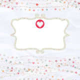 Valentine card with placeholder. EPS 8 Royalty Free Stock Photo