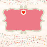 Valentine card with placeholder. EPS 8 Royalty Free Stock Image