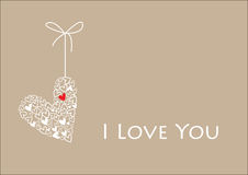 Valentine card-red heart Royalty Free Stock Photography