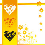 Valentine card, retro style Stock Images