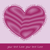 Valentine card with scribbled heart Stock Image
