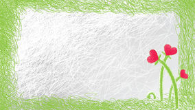 Valentine card in sketch stile Royalty Free Stock Image