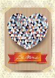 Valentine card with stunning heart Stock Images