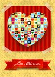 Valentine card with stunning heart Stock Photos