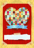 Valentine card with stunning heart Stock Photo