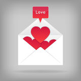 Valentine card template Royalty Free Stock Photos