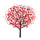 Valentine card template with tree with heart-shaped leaves Stock Photo