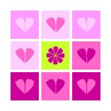 Valentine's Day  icon ornament  Royalty Free Stock Photos