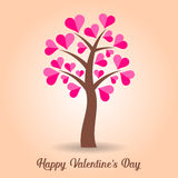 Valentine card with tree Royalty Free Stock Image