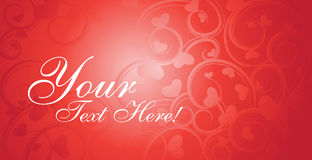 Valentine card vector Royalty Free Stock Image