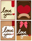 Valentine Card. Vector File EPS10 Royalty Free Stock Photo