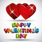 Valentine card, vector. Stock Image