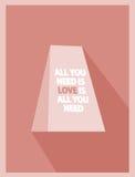 Valentine Card Vintage Fotografie Stock Libere da Diritti