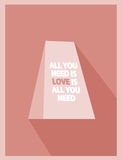 Valentine Card Vintage Royalty Free Stock Photos