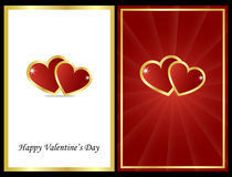 Valentine cards royalty free illustration