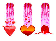 Valentine cards collection Royalty Free Stock Images