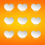 Valentine cards in the pockets. Eps10 Royalty Free Stock Photo