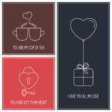 Valentine cards set Royalty Free Stock Photo