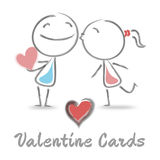 Valentine Cards Shows Valentines Day And Adoration Stock Image