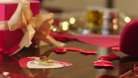 Valentine cards for Valentines Day stock video footage