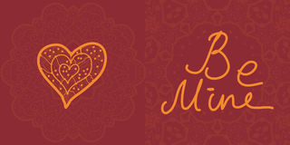 Valentine cards, vector design editable. Royalty Free Stock Photography