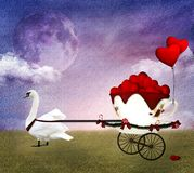 Valentine carriage Stock Photography