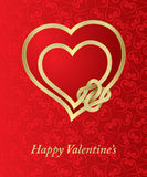 Valentine \ 'carte de s Photos stock