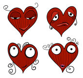 Valentine cartoon girl Stock Image