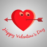 Valentine cartoon heart Stock Photo