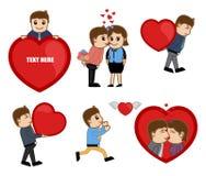 Valentine Cartoon Vectors Stock Photo