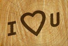 Valentine carving Stock Photos