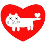 Valentine cat Royalty Free Stock Photos