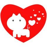 Valentine cat Stock Photography