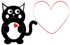 Valentine Cat Royalty Free Stock Photos