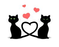 Valentine Cats Royalty Free Stock Image