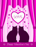 Valentine cats Stock Photography
