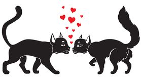 Valentine cats Royalty Free Stock Images