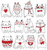 Valentine cats Royalty Free Stock Photos