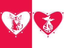 Valentine catsValentine cats Royalty Free Stock Images