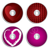 Valentine cd & dvd labels Royalty Free Stock Photography