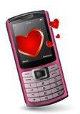 Valentine Cell Phone Stock Photography