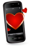 Valentine Cell Phone Stock Image