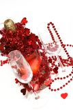 Valentine champagne Royalty Free Stock Photo