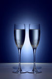 Valentine champaigne glasses Stock Photography