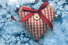 Valentine checked heart Royalty Free Stock Images