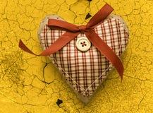 Valentine checked heart Royalty Free Stock Photo