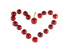 Valentine from cherries. Love. Royalty Free Stock Photos