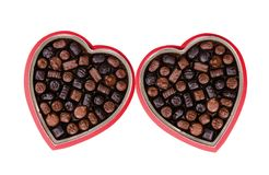 Valentine Chocolate 1. Two boxes of valentine chocolate for a loved one...double the fun Stock Photo
