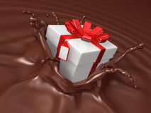 Valentine chocolate 3d art Stock Photo